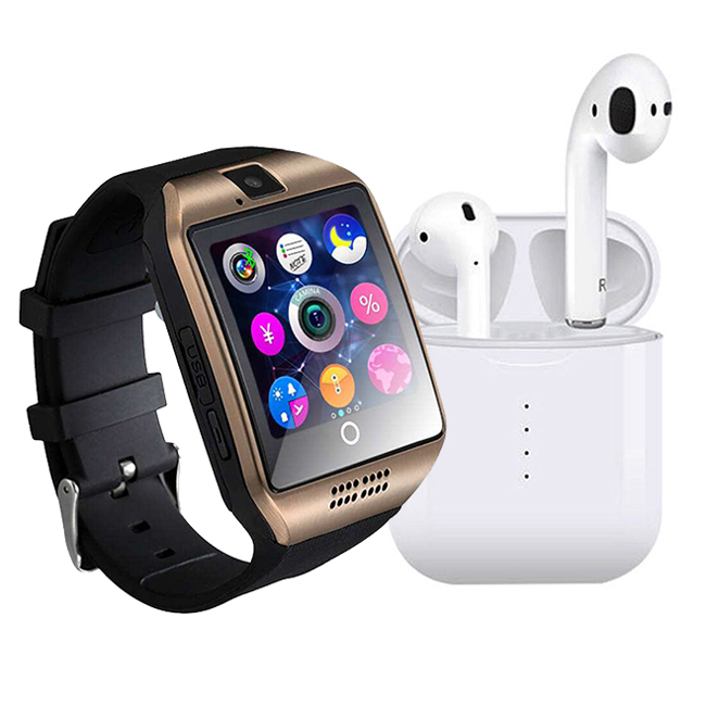 TWS I10 EARPHONE  & GLX SMART WATCH