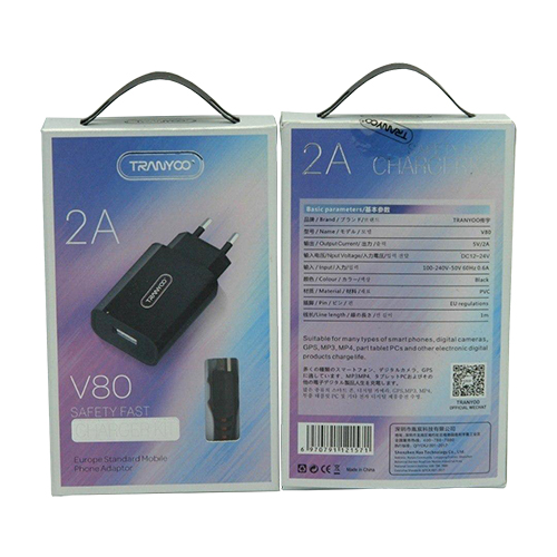 Tranyoo V80 Wall Charger with MicroUSB cable