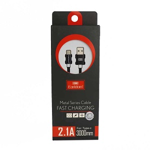 Earldom ET-011C Type-C Metal Fast charging 2.1A 3m Cable
